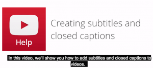 Closed captions for video